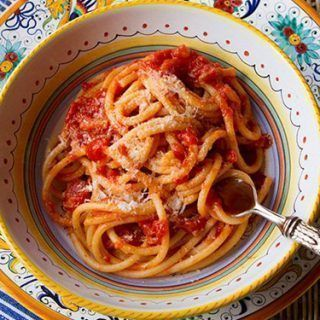 Receta de espaguetis a la amatriciana