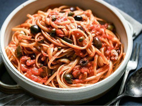 Espaguetis puttanesca de Jamie Oliver