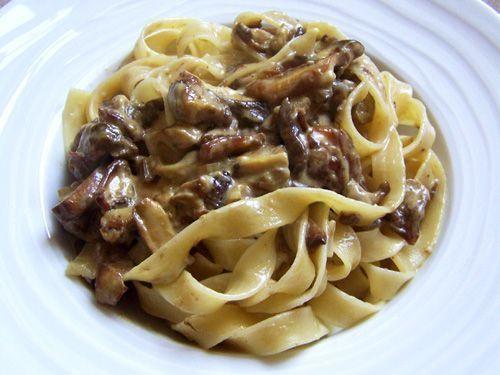 Espaguetis con champiñones en Thermomix