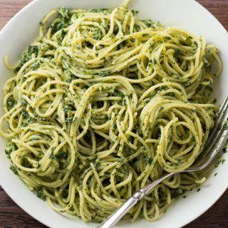 Espaguetis con hierbas aromáticas