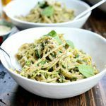 Espaguetis integrales con calabacín