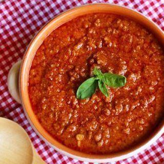 Salsa de carne boloñesa en Thermomix