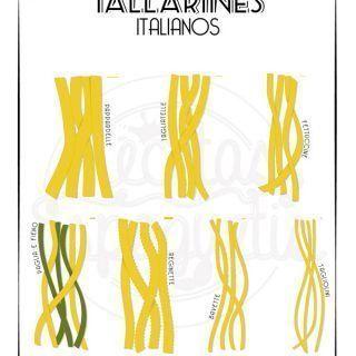 Tipos de tallarines italianos