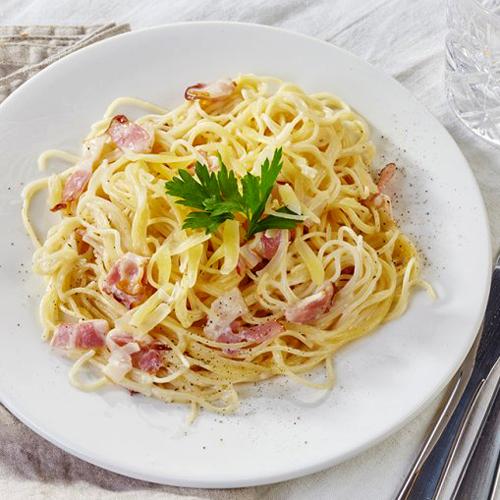 Receta de espaguetis a la carbonara en Thermomix